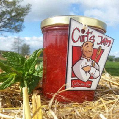 Fresh Belgian handmade strawberry mint jam is without sugar 200ml
