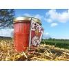 Verse Belgische handgemaakte rabarber met aardbeiconfituur zonder suiker - 200 ml