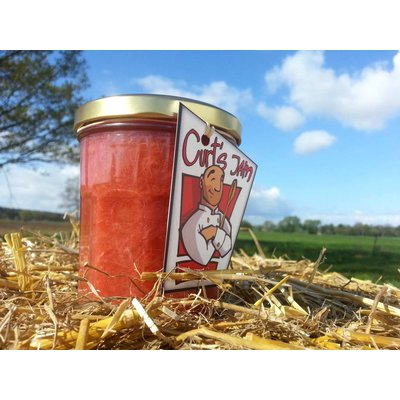 Fresh Belgian handmade strawberry rhubarb jam without sugar - 200ml