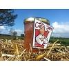 Verse Belgische handgemaakte abrikoos rabarber jam/confituur zonder suiker - 200ml