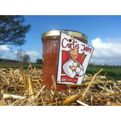 Fresh Belgian handmade apricot rhubarb jam without sugar - 200ml