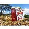 Verse handgemaakte confituur van rabarber & framboos jam/confituur - 200 ml - zonder suiker