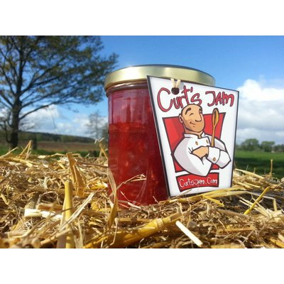 Fresh Belgium Handmade raspberry & rhubarb Jam - 200 ml - without sugar