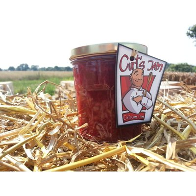 Verse Belgische handgemaakte rode bes & rabarber jam/confituur - 200 ml