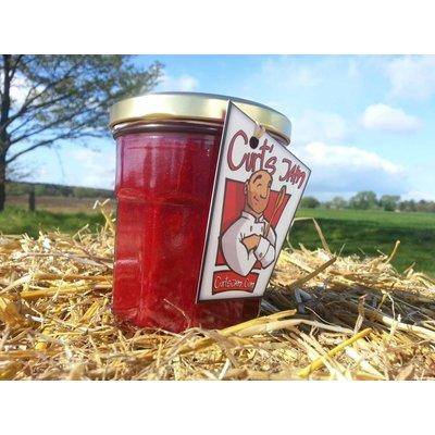 Verse Belgische handgemaakte kriekenconfituur is gemaakt zonder suiker - 200 ml