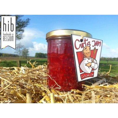 Fresh Belgian Handmade Raspberry jam is made without sugar - 200 ml