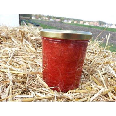 Verse Belgische handgemaakte aardbei confituur met Banaan 200ml