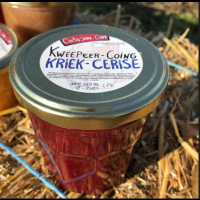 """Fresh Belgian handmade """" quince cherry """" jam  200 ml"""