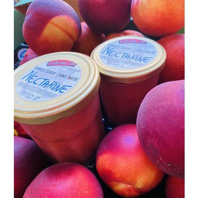 200 ml fresh Belgian handmade nectarine jam, without added sugar.