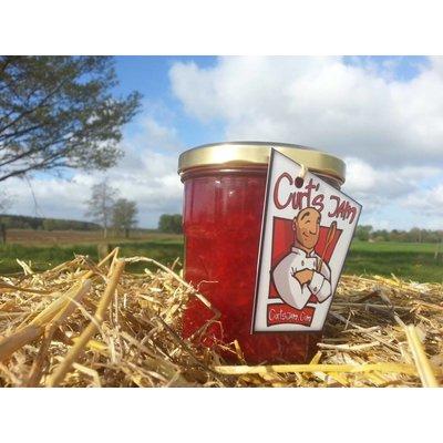 Verse Belgische handgemaakte frambozen met aardbei confituur - 200 ml