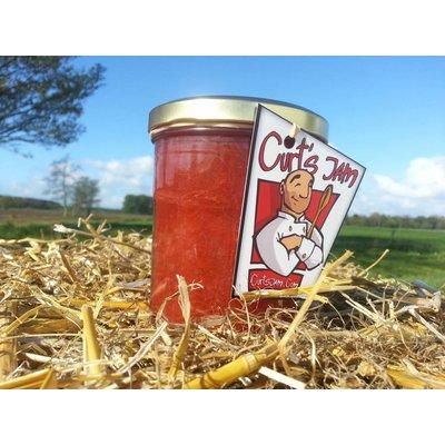 Verse Belgische handgemaakte rabarber aardbei confituur recept - 200 ml