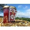Verse Belgische handgemaakte aardbei confituur met veenbes en lavendel - 200 ml