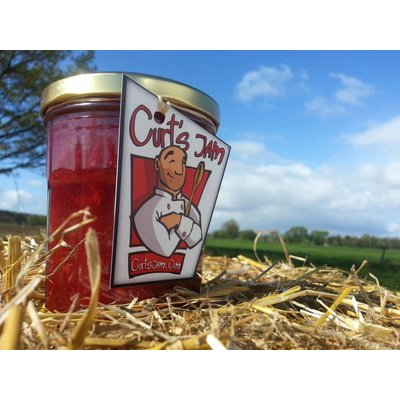 "Fresh Belgian handmade ""Rhubarb + sour cherry"" jam - 325 ml"
