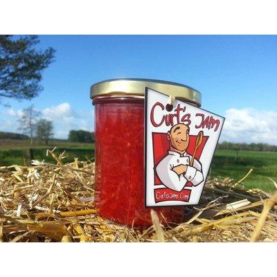 Fresh Belgian handmade Raspberry, orange, banana and strawberry jam - 200 ml