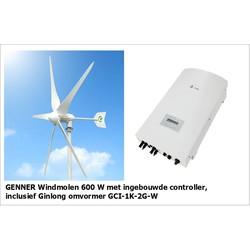 Complete set | Genner 600W windmolen + Ginlong omvormer