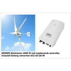 Complete set | Genner 1000W windmolen + Ginlong omvormer
