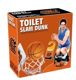 Gadget Dojo WC-Slam Dunk WC Basketball Set Sport Spielzeug