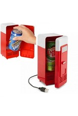 Gadget Dojo USB-Mini-Kühlschrank Dosen Kühler für Laptop PC Rot