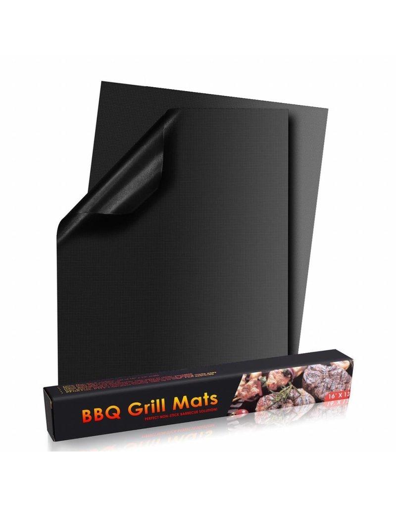 Gadget Dojo Ovenbeschermer / BBQ Grill Mat - Hittebestendig & Herbruikbaar - 2 stuks