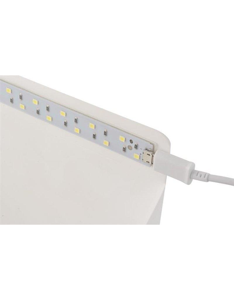 Gadget Dojo Faltbares Fotostudio-Foto-Zelt mit LED-Beleuchtung