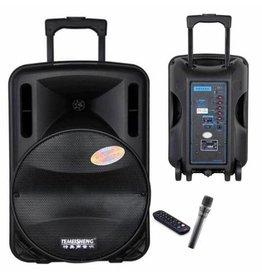 "Gadget Dojo Tragbares Audiosystem Karaoke Set 12 ""Woofer mit Mikrofon"