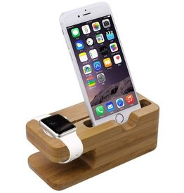Gadget Dojo Bamboe Houten Docking Station Dock voor Apple Watch en iPhone