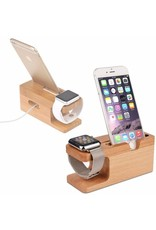 Gadget Dojo Bamboe Houten Docking Station Dock voor Apple Watch en iPhone