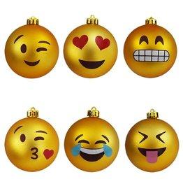 Gadget Dojo Emoji Weihnachtskugeln - Emoticon Ornamente