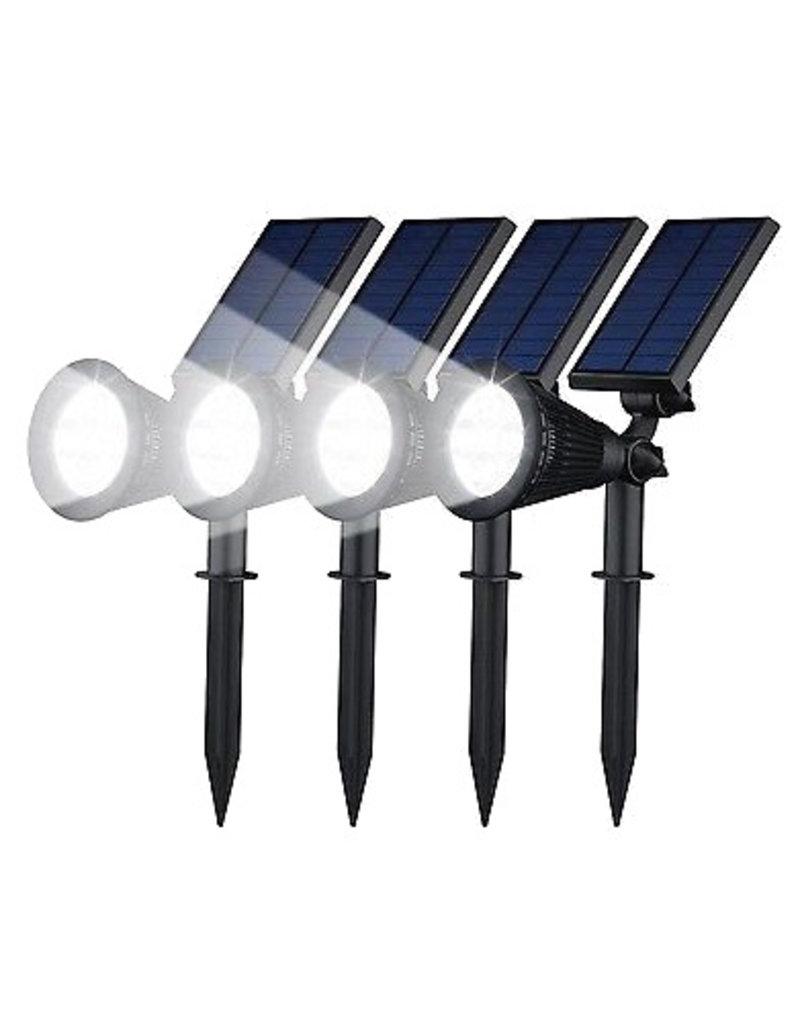 Gadget Dojo Scheinwerfer Solar-LED-Gartenleuchte 4 Stück
