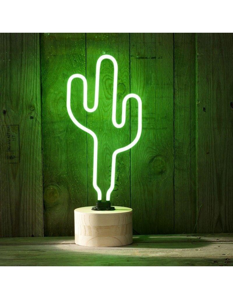 Gadget Dojo Leben Neon Cactus Neon-Lampe Light Green