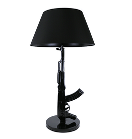 Gadget Dojo Tafellamp Vloerlamp AK-47 Gun Lamp Zwart