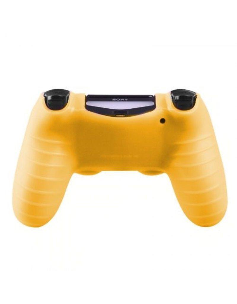 Geeek Silikonschutzhuelle fuer PS4 Kontroller Cover Skin - Gelb
