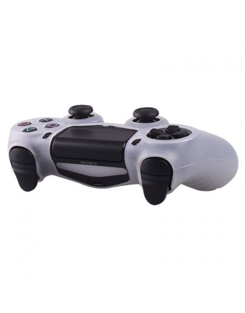 Geeek Silicone Beschermhoes voor PS4 Controller Cover Skin Transparantrant