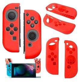 Gadget Dojo Silikon-Anti-Rutsch-Abdeckung für Nintendo Switch Controller Rot