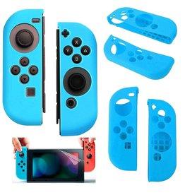 Gadget Dojo Silikon-Anti-Rutsch-Abdeckung fuer Nintendo Switch Controller Blau