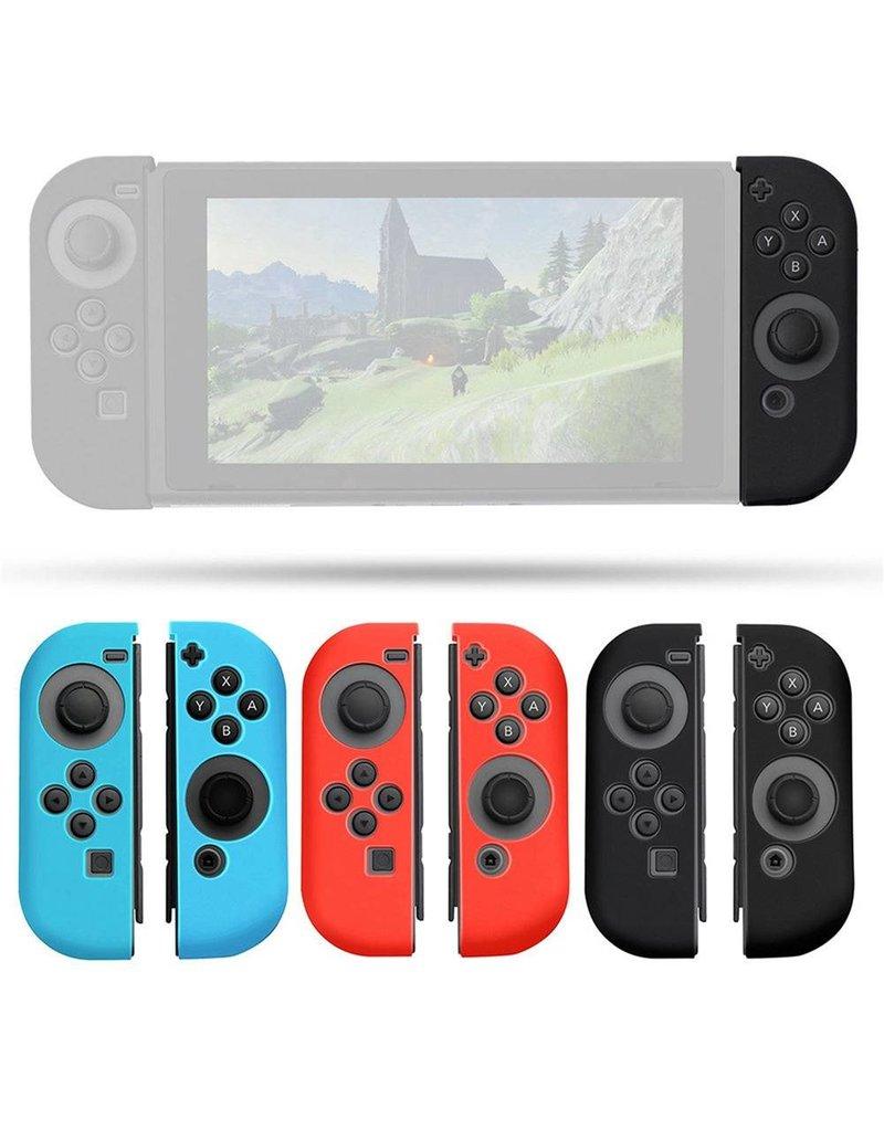 Gadget Dojo Silikon-Anti-Rutsch-Abdeckung fuer Nintendo Switch Controller Schwarz