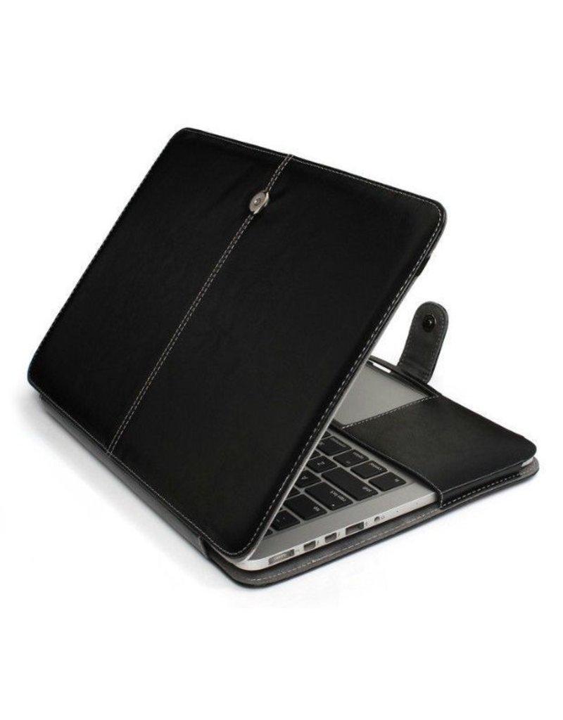 Geeek Lederhuelle MacBook Air 13 Zoll - Schwarz