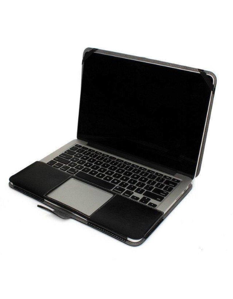 Geeek Schmale Leder Huelle MacBook Air 11 Zoll - Schwarz