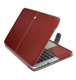 Geeek Schmale Leder Huelle MacBook Pro 13 Zoll - Braun