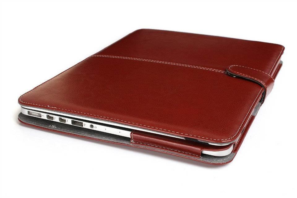Leather Slim Sleeve MacBook Pro 13 inch Bruin