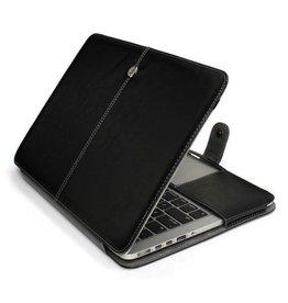 Geeek Schmale Leder Huelle MacBook Pro 13 Zoll - Schwarz