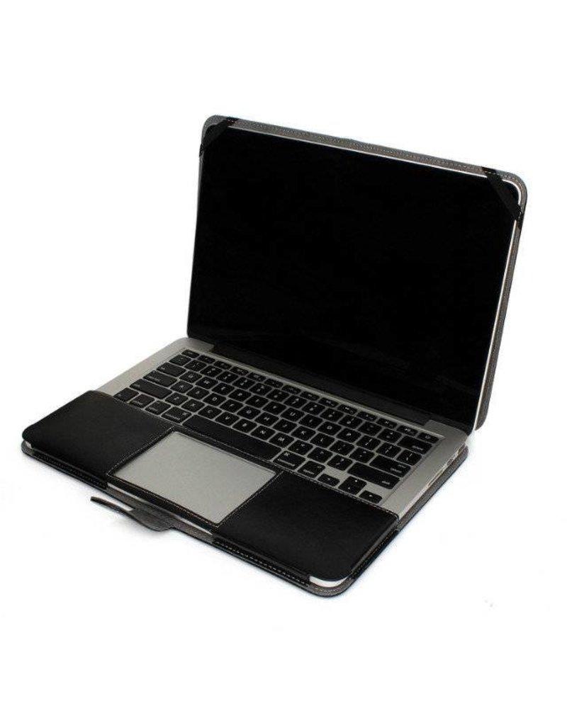 Geeek Leather Slim Sleeve MacBook Pro 13 inch Retina Zwart