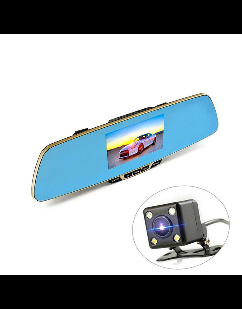Gadget Dojo DashCam CarCam Achteruitkijkspiegel HD 1080p Dual Camera