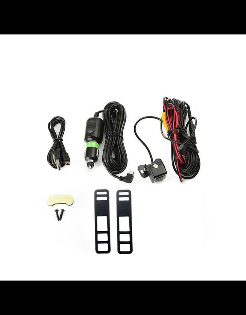 Gadget Dojo DashCam CarCam Rueckfahrspiegel HD 1080p Dual Kamera