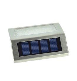 Gadget Dojo RVS Solar LED Buitenlamp Verlichting Trapverlichting