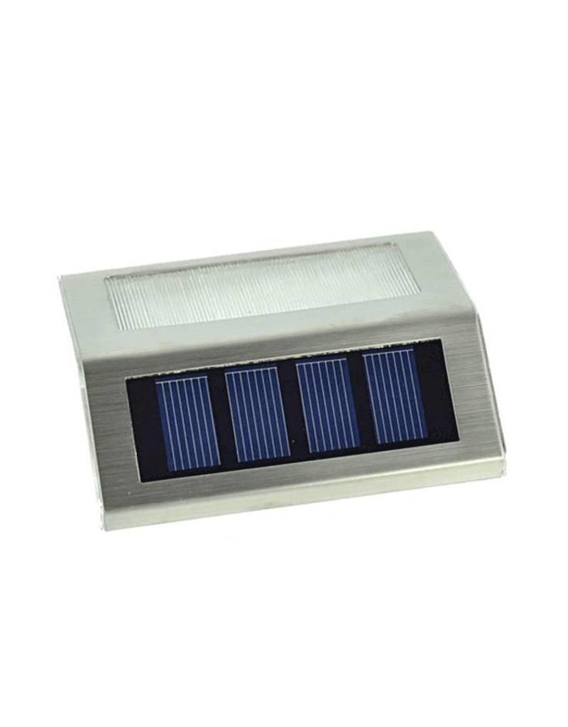 Gadget Dojo RVS Solar LED Buitenlamp Verlichting Tuinlamp Trapverlichting