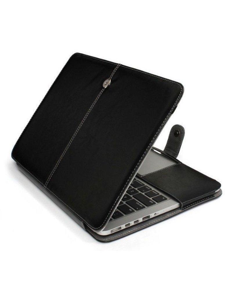 Gadget Dojo Leather Slim Sleeve MacBook 12 inch Zwart