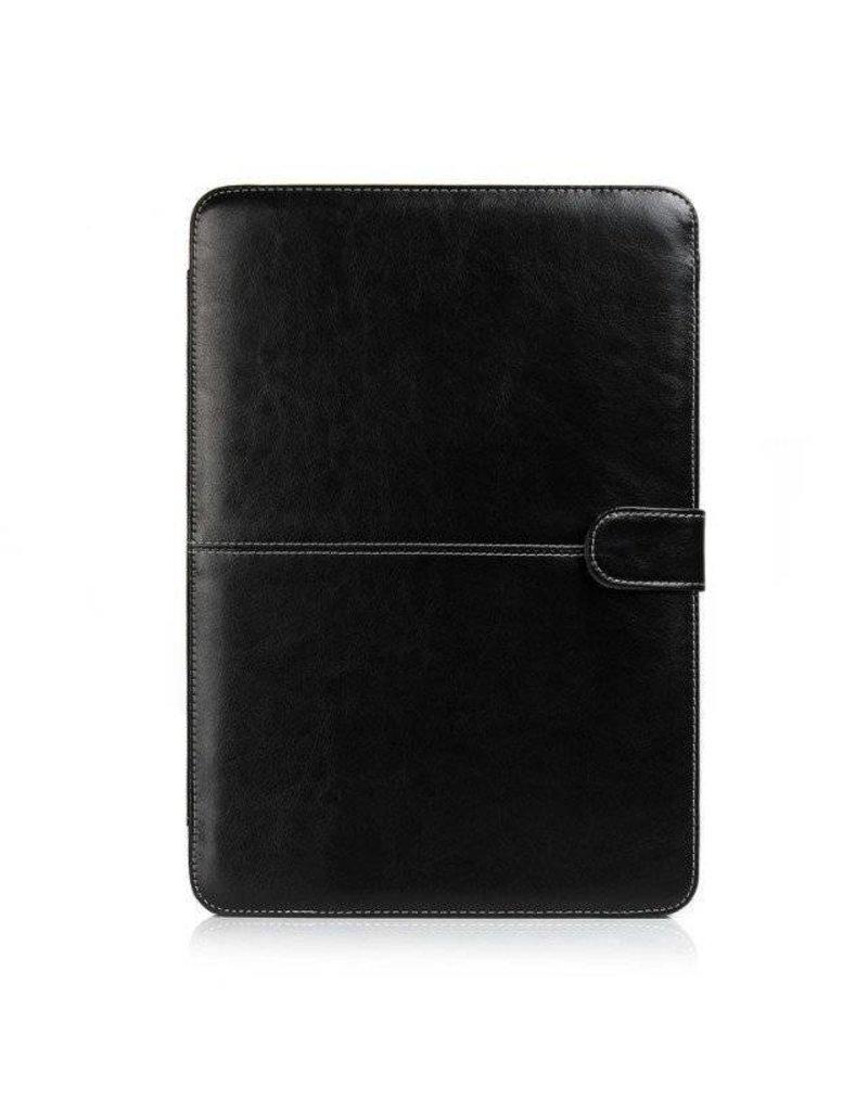 Gadget Dojo Dünne Lederhülle für MacBook 12-Zoll - Schwarz