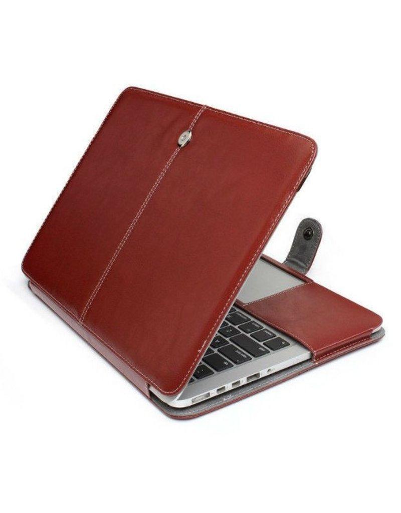 Geeek duenne Lederhuelle fuer MacBook 12-Zoll - Braun