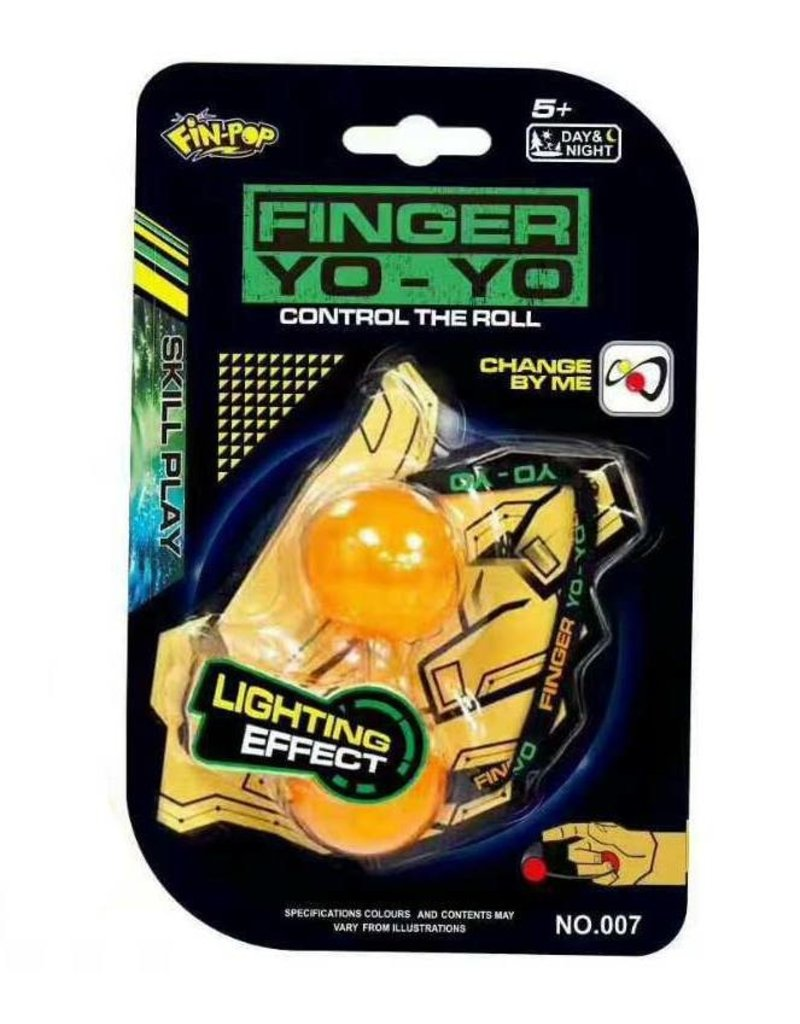 Gadget Dojo Fingertips Finger Yo-Yo Ball Chucks Stress Reliever
